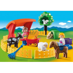 Playmobil - Agricultrice avec brouette et coq - 6965