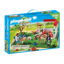 Playmobil - SuperSet Paddockavec chevaux - 6147