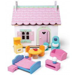 Le Toy Van - Lily's cottage with furniture - en bois - H111