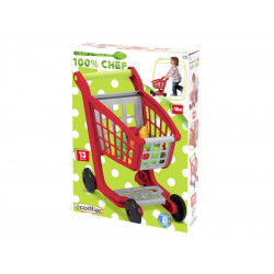 Ecoiffier - Chariot supermarché garni - 1225 - Made in France
