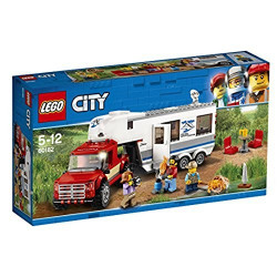 Lego - Le Pick up et sa caravane City - 60182