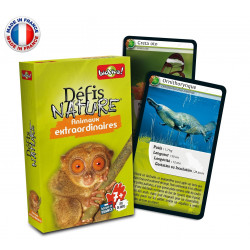 Bioviva - Défis nature - Animaux extraordinaires - Jeu de cartes - Made in France - 286015