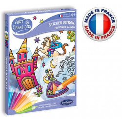 SentoSphère - Art & créations - Sticker vitrail Princes et princesses - 2690 - Made in France
