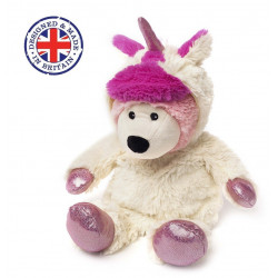 Soframar - Bouillotte sèche Moultic blanc Cozy Peluche - AR0137 - Made in england