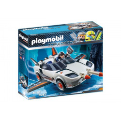 Playmobil - Voiture de l'Agent Pilote, Top Agents - 9252