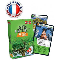 Bioviva - Défis nature - Arbres du Monde - Jeu de cartes - Made in France