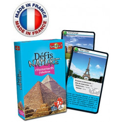 Bioviva - Défis nature -  Monuments Fabuleux - Jeu de cartes - Made in France