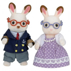 Epoch d'Enfance - Sylvanian Families - Grands-parents Lapin Chocolat - 5190