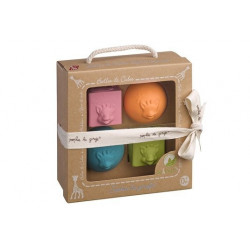 Vulli -Set de 2 Balles et 2 Cubes So'Pure - 220119