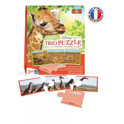 Bioviva - Disney Nature - Trio Puzzle - Jeu éducatif Bioviva - Made in France - 300032