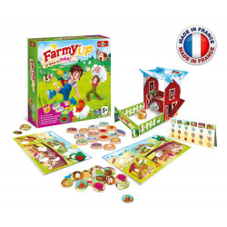 Bioviva - Jeu de société - Farmy'up La Ferme en Folie ! - Jeu de plateau Bioviva - Made in France
