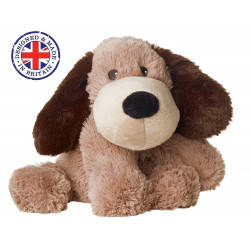 Soframar - Bouillotte sèche Chien marron Cozy Peluche - AR 0081 - Made in england