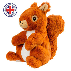 Soframar - Bouillotte sèche Ecureuil Cozy Peluche - AR0030 - Made in england