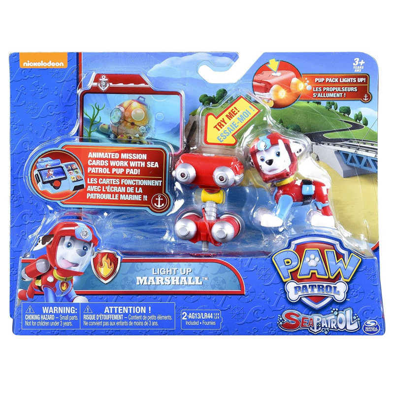 Spin Master - Paw Patrouille - seapatrol pup pack lights up - 6037879