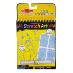 Melissa & Doug - On the Go scratch art - Animaux - 19143
