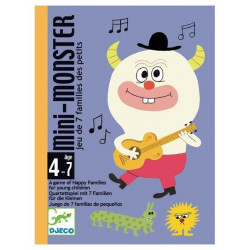 Djeco - Jeu de cartes - Mini monster family - DJ05124