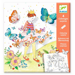 Djeco - Coloriages surprises - Lady butterfly - DJ09629