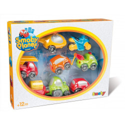 Smoby - Vroom Planet Coffret 7 véhicules Collector - 120217