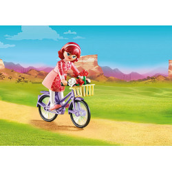 Playmobil - Maricela et bicyclette - Spirit - 70124