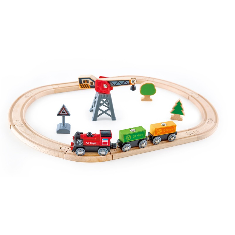 Hape - Circuit du train de marchandise - E3731