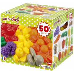 Ecoiffier -  Pack 50 fruits et légumes - dînette - jeu d'imitation - 2655 - Made in France