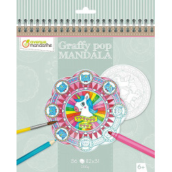 Avenue Mandarine - Graffy Pop Mandala licorne - GY071