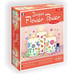 Bougies Flower Power - SentoSphère - 2353 - Made in France