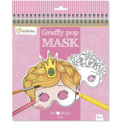 Coloriage graffy pop mask - Fille - Avenue mandarine - GY021