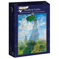 Puzzle 1000 pièces - Claude Monet - Woman with a parasol - Madame Monet et son fils - 60039