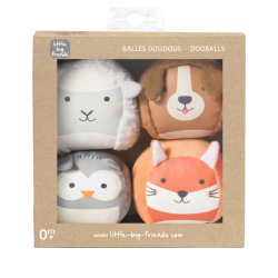 Les Dooballs - Set de 4 balles doudous ferme - Little Big Friends - 303495