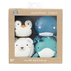 Les Dooballs - Set de 4 balles doudous ocean - Little Big Friends - 303518