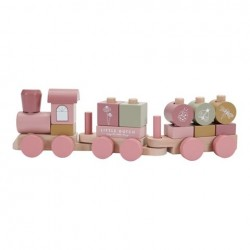 Train à blocs rose - Flowers - Little Dutch - LD7035