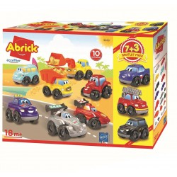 Coffret 10 véhicules fast car - jeu d'imitation - Ecoiffier - 3299 - Made in France