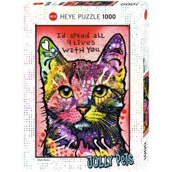 Puzzle Jolly pets - Cats 9 lives - 1000 pièces - HEYE - 29731