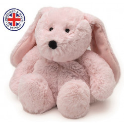 Soframar - Bouillotte sèche Lapin rose Cozy Peluche - AR0239 - Made in england