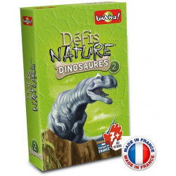Bioviva - Défis nature - Les dinosaures 2 - Jeu de cartes - Made in France