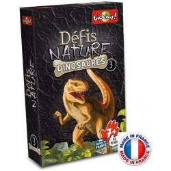 Bioviva - Défis nature - Les dinosaures 3 - Jeu de cartes - Made in France