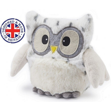 Soframar - Bouillotte sèche Hibou Hooty blanc - AR0258 - Made in england