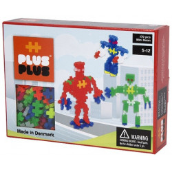 Plus Plus - Puzzle Box Mini Néon robots 170 - PP3726