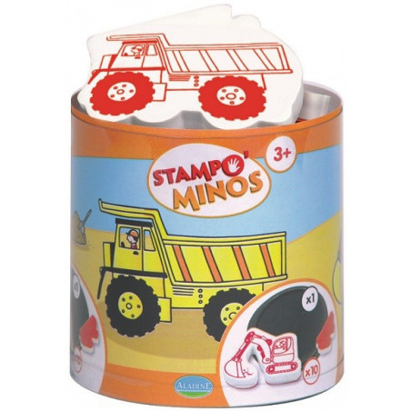 Aladine - Stampo minos chantier - Tampon pour enfant - 85127